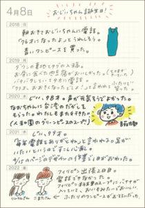 ほぼ日5年手帳の書き方