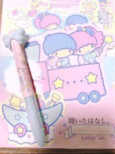 キキララのレターセットとペン
